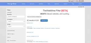 TheWebMiner Filter